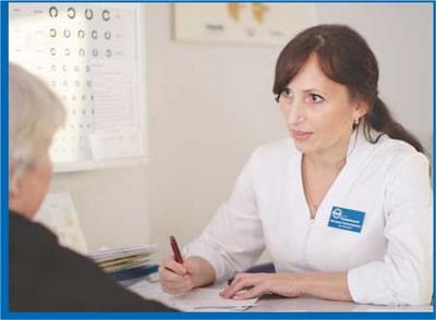 Специалист клиники современной офтальмологии «БЕРЕГ» В. А. Невмержицкая