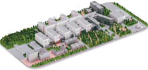 Проект реконструкции краевой больницы, Красноярск, 2018