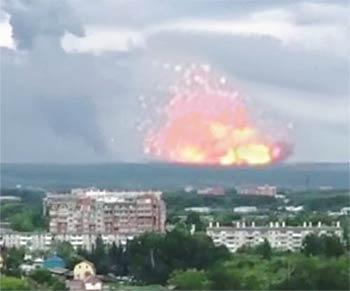 Пожар в Ачинске, август 2019